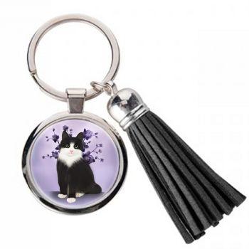 Lilac Serenity - Metal Keyring & Tassel