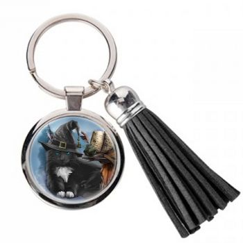 The Magician - Metal Keyring & Tassel