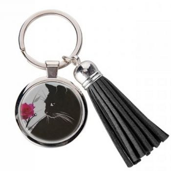 Just Looking - Metal Keyring & Tassel