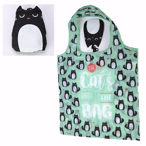 Handy Folding Cat Shopping Bag