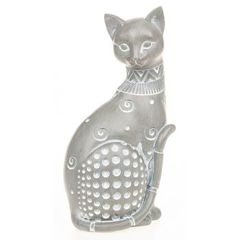 Country Grey Sitting Cat - 296142 DUE START OCTOBER