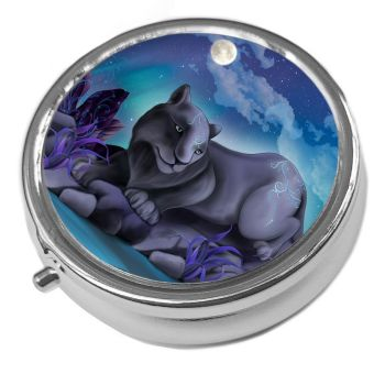 Fantasy Cat - Nyx - Metal Pill Box