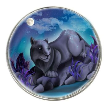 Fantasy Cat - Nxy - Chrome Finish Metal Magnet