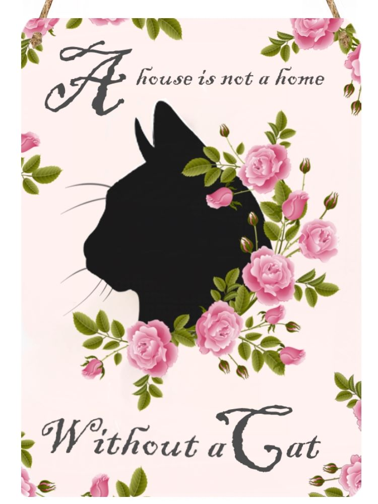 Hanging Metal Sign - Bella Rose - House Not A Home....