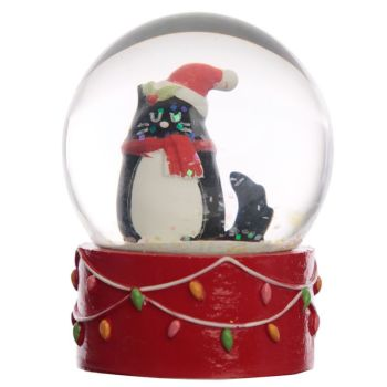 Feline Festive Christmas Cat Waterball Snow Globe WAS £8.49