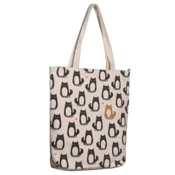 Feline Fine Cat Bag with Zip and Lining
