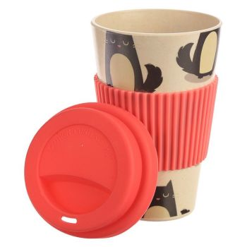 Bambootique Eco Friendly Cat Reusable Bamboo Travel Mug WAS £9.99