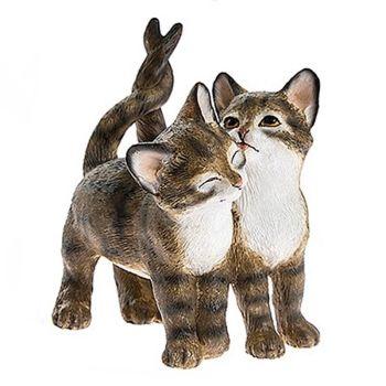 Cute Kitten Pair - Tabby & White
