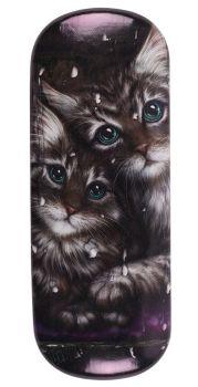 Tabby Kittens Glasses Case