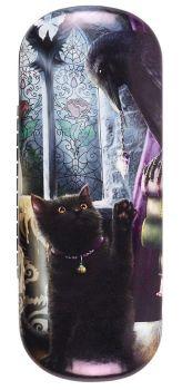 Familiarity - Black Cat & Raven Glasses Case