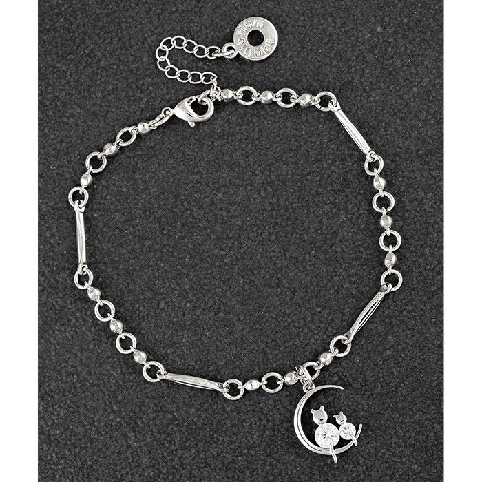 Cats on Moon Platinum Plated Bracelet - DUE NOVEMBER 2ND