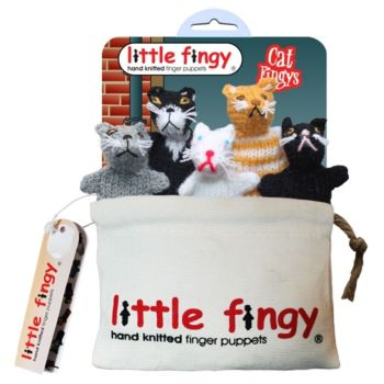 Cat Fingys - Knitted Cat Finger Puppets