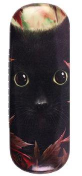 Autumn Black Cat Glasses Case