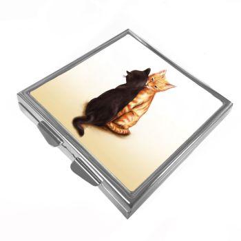Black & Ginger Cats (TLC) - Pill/Trinket Box