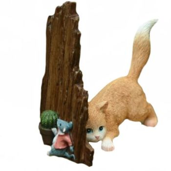 Hide & Seek - Cat Figurine WAS £16.49