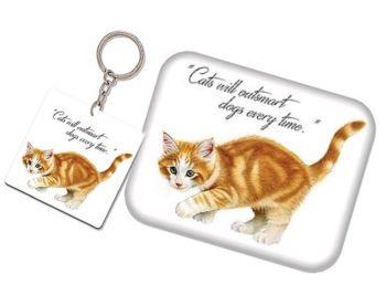 Keyring & Magnet Set - Ginger Kitten