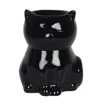 Ceramic Black Cat Wax Melter / Oil Burner