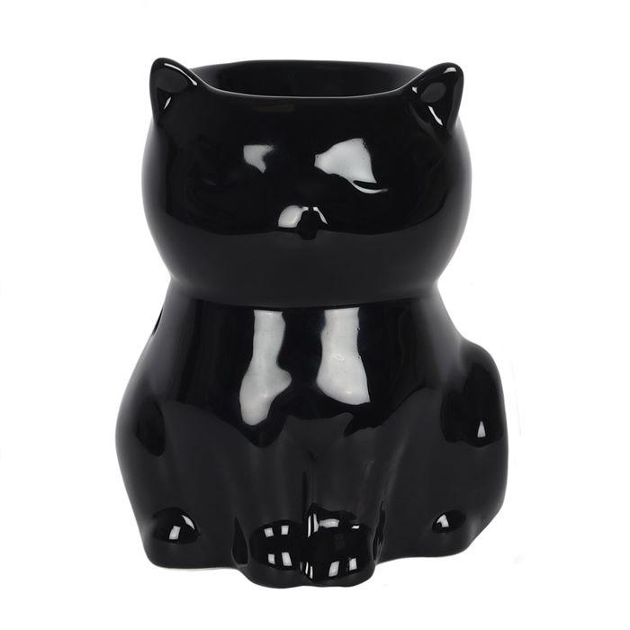 Ceramic Black Cat Wax Melter / Oil Burner
