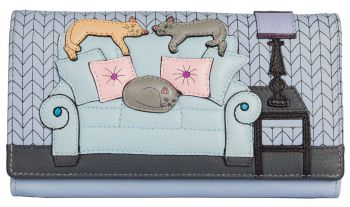 Lazy Days Cats Leather Matinee Purse
