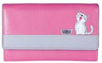 Ziggy Cat Flap Over Purse - PINK