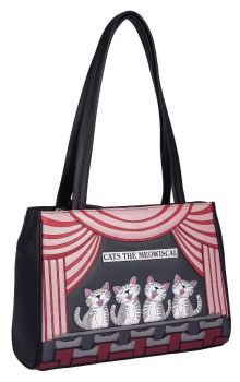 Large Cats the Meowiscal Leather Shoulder Bag