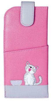 Ziggy Cat Glasses Case Leather