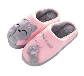 Light Pink Cat Slippers