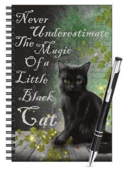 Lined Notebook & Pen Set - Little Black Cat