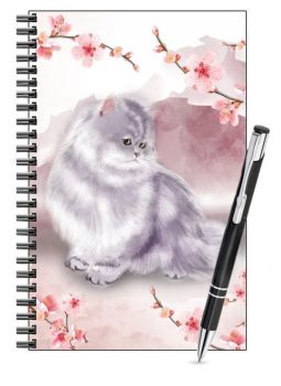 Lined Notebook & Pen Set - Marley In The Blossom