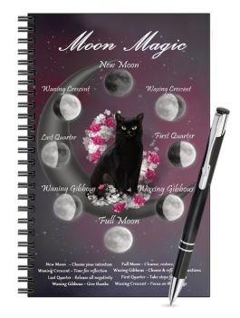 Lined Notebook & Pen Set - Moon Magic