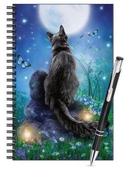 Lined Notebook & Pen Set - Moongazer