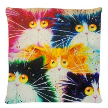 Kim Haskins Cat Cushion 50 x 50cm WAS £12.50 FOR ONE NOW £10 FOR 2