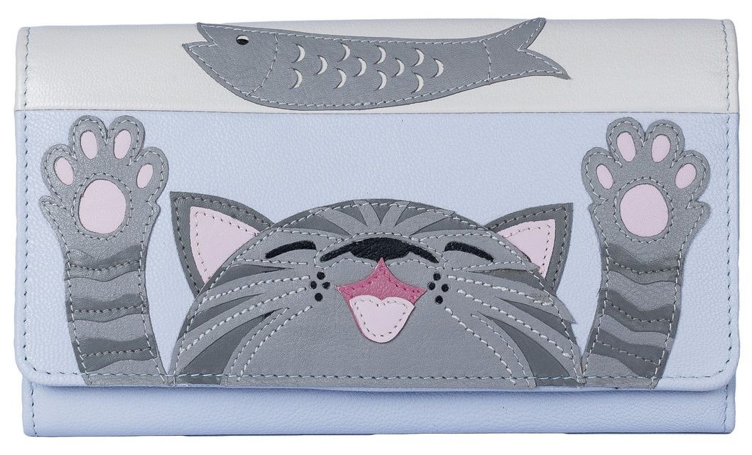 Give Me Fish Leather Cat Purse