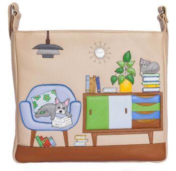 Cat & Dog Lounging Cross Body Bag