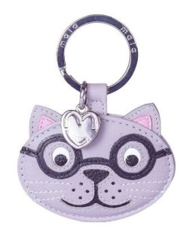 Leather Cat Keyring - Harry