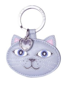 Leather Cat Keyring - Lola