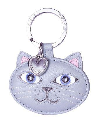 Leather Cat Keyring - Lola