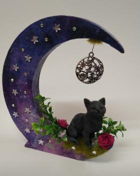Black Cat On Moon - A