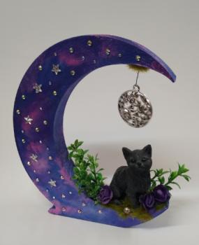 Black Cat On Moon - B