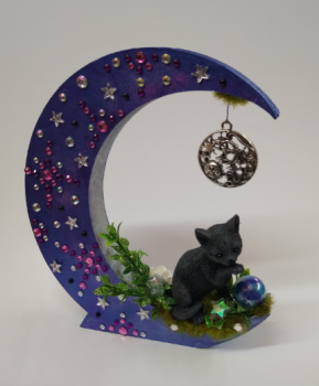 Black Cat On Moon - C