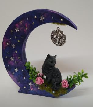 Black Cat On Moon - D