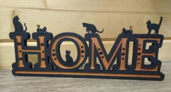 Cat Home Sign - Copper 1