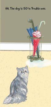 Magnificent Moggies Greetings Card - Umbrella