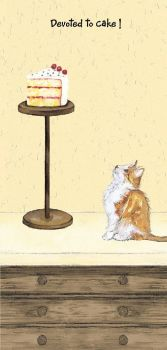 Magnificent Moggies Greetings Card - Ginger Cake