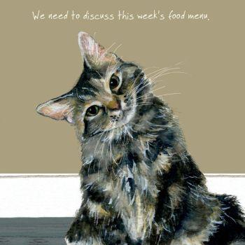Tabby Cat Greeting Card – Menu