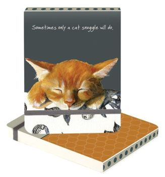 A6 Note Pad - Cat Snuggle
