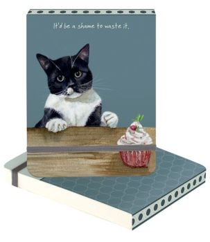 A6 Note Pad - Cat & Cake