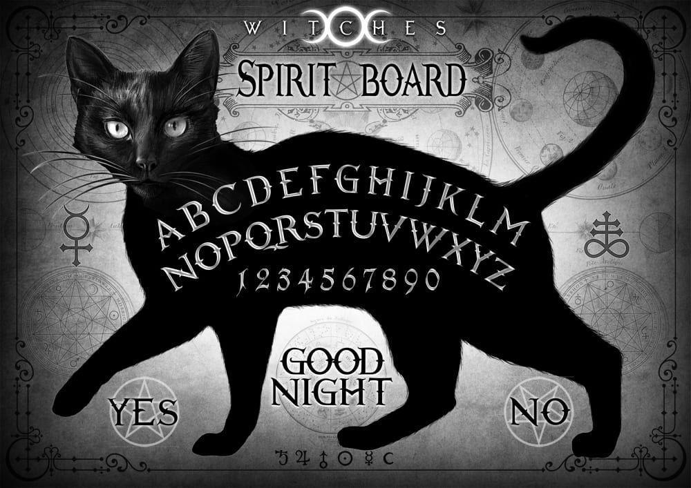 3D lenticular Alchemy 'Black Cat Spirit Board'