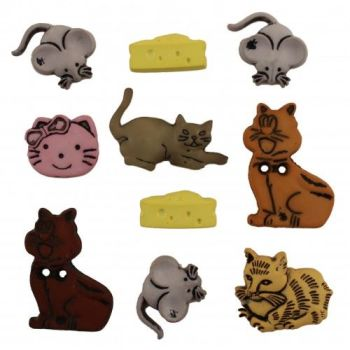 Cat n Mouse Crazy Button Pack