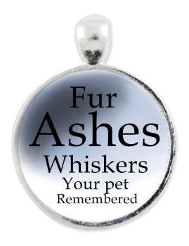 Pet  Elements Set In Cabochon Necklace